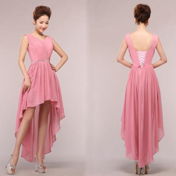 Sweet 16 elegante día mejor negro hot pink alto bajo vestidos sin ...