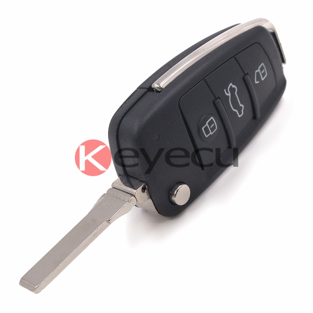 New Keyless-Go Remote Key Fob 3 Button 433MHz ID48 for Audi 2012-2016 8V0 837 220 D
