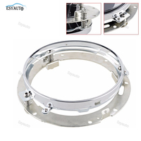 1 PCS 7inch Round Mounting Silver Black Bracket Ring 7 Inch Led Headlight Bracket Stainless Steel
