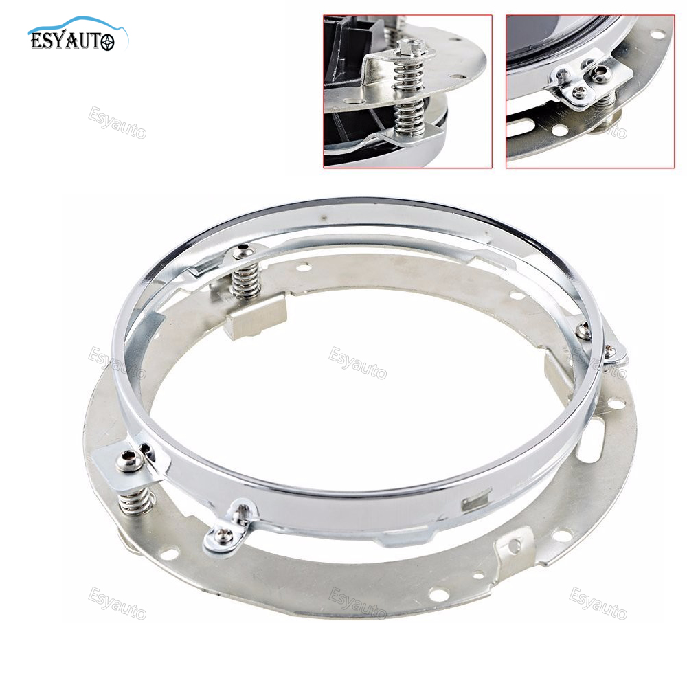 1 PCS 7inch Round Mounting Silver/Black Bracket Ring 7 inch led Headlight Bracket stainless steel for Motorcycle Harley Davidson usb3 0 round type panel mounting usb connecter silver surface