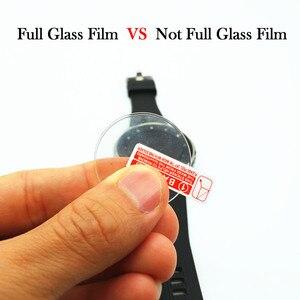 Image 3 - Para galaxy watch 3 45mm 41mm 2 pces filme de vidro temperado completo filme de vidro para engrenagem s3 22mm tela protetora agradável com seu relógio