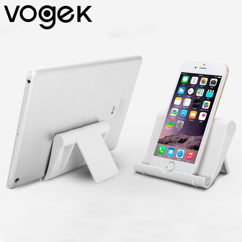 Vogek Foldable Plastic Phone Stand Holder Base For IPhone X XR For Samsung S10 S10+ Smartphone Candy Color Mobile Phone Bracket
