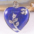 Free Shipping Fashion Jewelry 33X33X9MM Heart Blue Natural Lapis Lazuli Pendant 1Pcs K1383