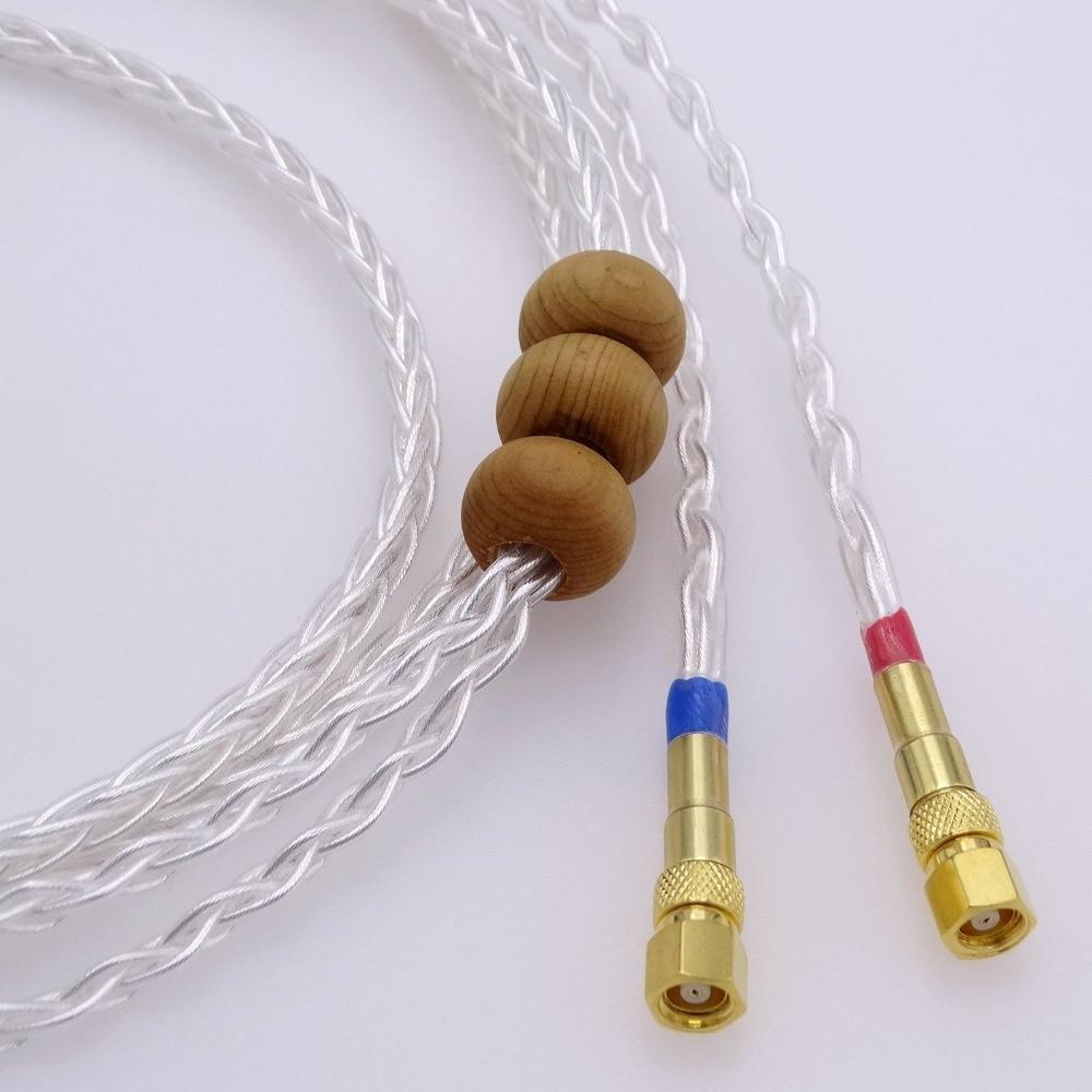 2.5 m 4-Pin équilibré Litz tresse 8 cœurs 5n Pcocc argent plaqué casque mise à niveau câble pour Hifiman He-5 He-6 He-400 He-500 He560