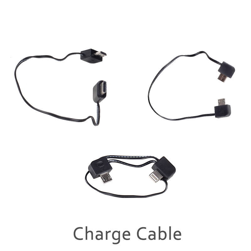 3pcs gimbal charging phone cable for lightning    type c