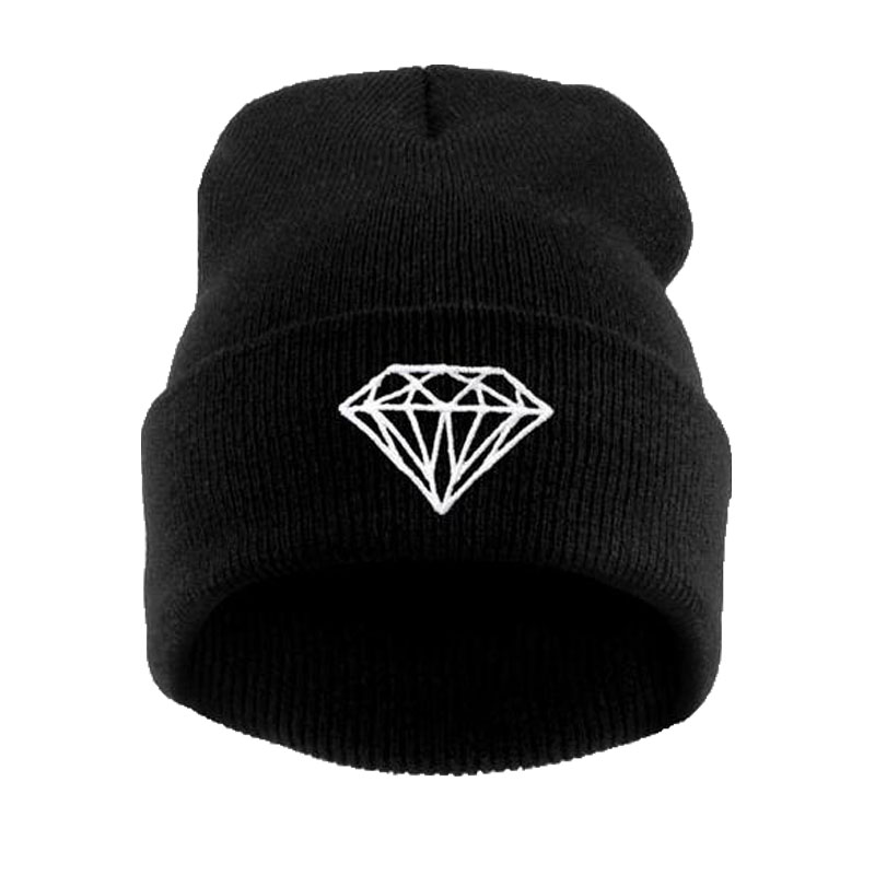 Brand New Gorros 2016 Fashion Beanie Men Casual Winter Hat Warm Diamond Knitted Hats For Women Hip Hop Skullies Beanies Toca 30 2016 new fashion letter gorros hats bonnets