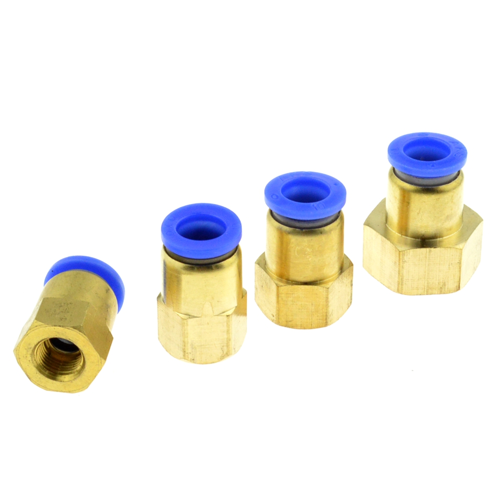 Air Pipe Fitting 10mm 12mm 8mm 6mm Hose Tube 1/8 3/8 1/2 BSP 1/4 Female Thread Brass Pneumatic Connector Quick Joint Fitting 2 pcs 8mm tube pneumatic hose air fitting tee quick connector coupler free shipping