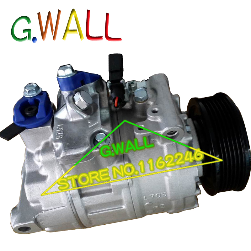 7SEU17C AC COMPRESSOR For Car Volkswagen MULTIVAN V / TRANSPORTER V BUS / AMAROK 2.0 200 ...