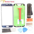 For Samsung GALAXY S6 EDGE Blue Gold White Replacement Screen Front Glass Outer Lens Repair Kit  UV LOCA Glue UV Light +Adhesive