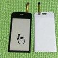 Negro / blanco 100% prueba de trabajo nueva C5 cristal Sensor Panel de pantalla táctil digitalizador para Nokia C5 03 C5-03 piezas de reparación del teléfono