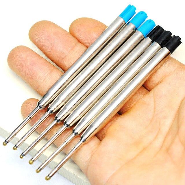 10pcs 0.5mm Roller Ballpoint Pen Refill Medium Nib Blue Black Color Ink Ball Pens Refill for School Office Writing Stationery 5
