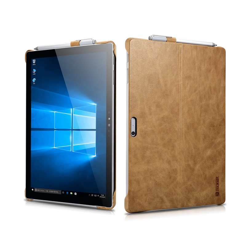 Luxury Real Genuine Leather Case For Microsoft Surface Pro 4 12.3