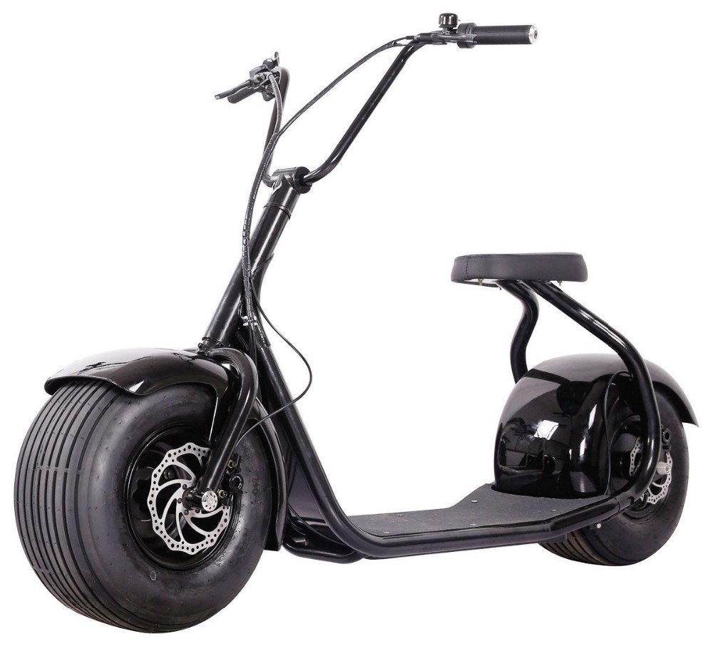 Top vente électrique ville woqu citycoco seev harley style scooter 1000 w citycoco scooter avec siège pour youngmen