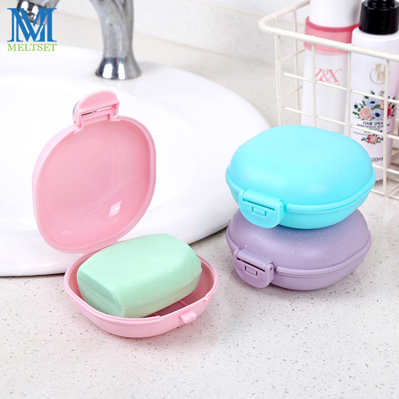 New Portable Round Soap Box Ecofriendly PP Waterproof Sealed Soap Storage Box Bathroom Tools Soap Holder Container