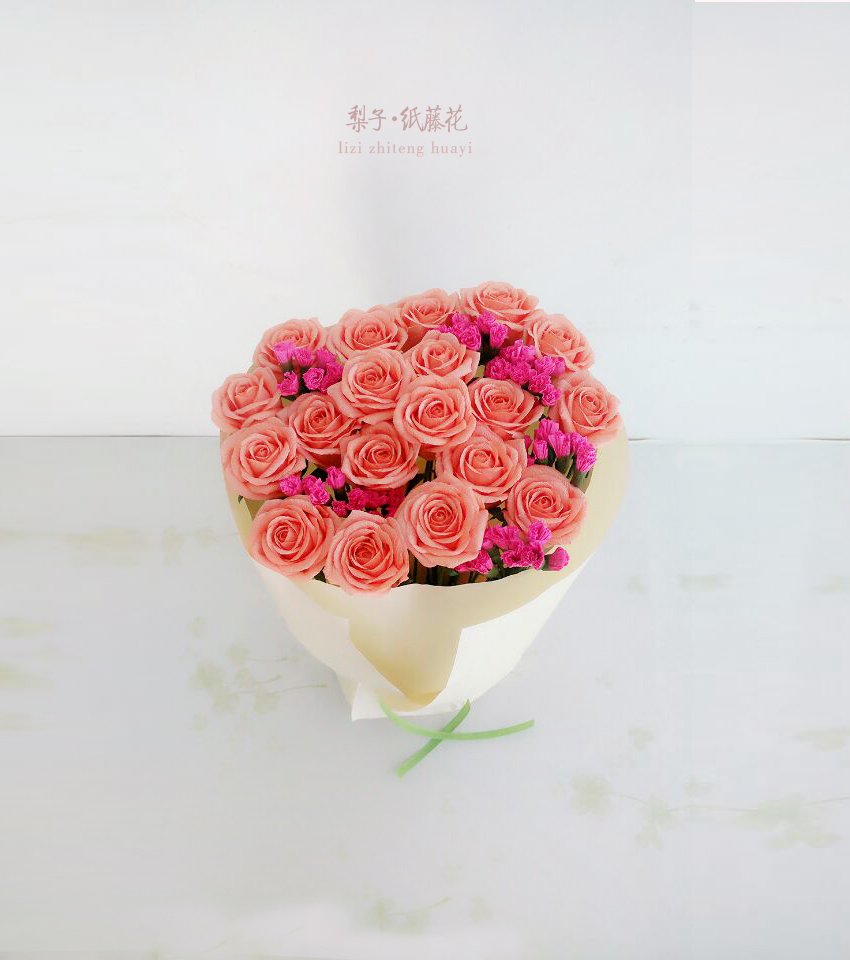 Diy Crafts Rattan Paper Flowers Roses Material 19 Package Decoration