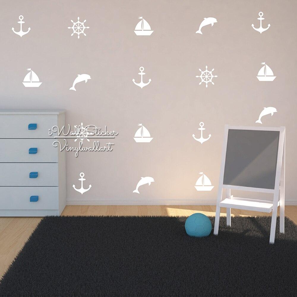 Yelkənli qayıq divar dekorativ, uşaq otaqları üçün çapa divar - Ev dekoru - Fotoqrafiya 3