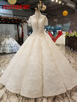HSDYQHOME High Quality Lace Amazing Evening dresses Ball Gown Prom Dresses Appliques Vestidos Luxury Evening party gown