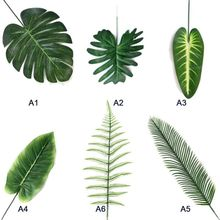 5PCS/Set Home Simulation Leaf Artificial Tropical Palm Leaves For Hawaiian Luau Party Jungle Beach Theme Decorations