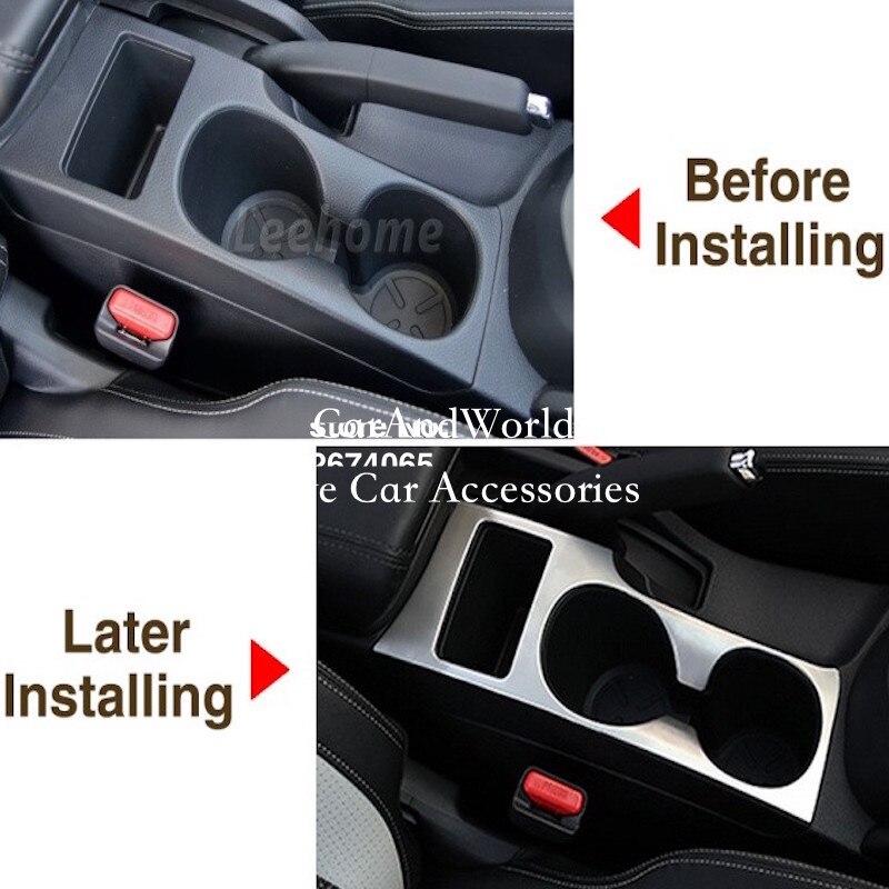 Voiture-style eau support de verre couvercle boîte de vitesses boîte de vitesses panneau cadre décoration garniture ABS Chrome pour Nissan Qashqai J11 2015-2017