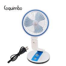 Coquimbo 360 stopni stół składany lampa z wentylatorem wbudowana bateria wiatrak biurowy lampka na biurko USB akumulator oświetlenie led z wtyczką ue
