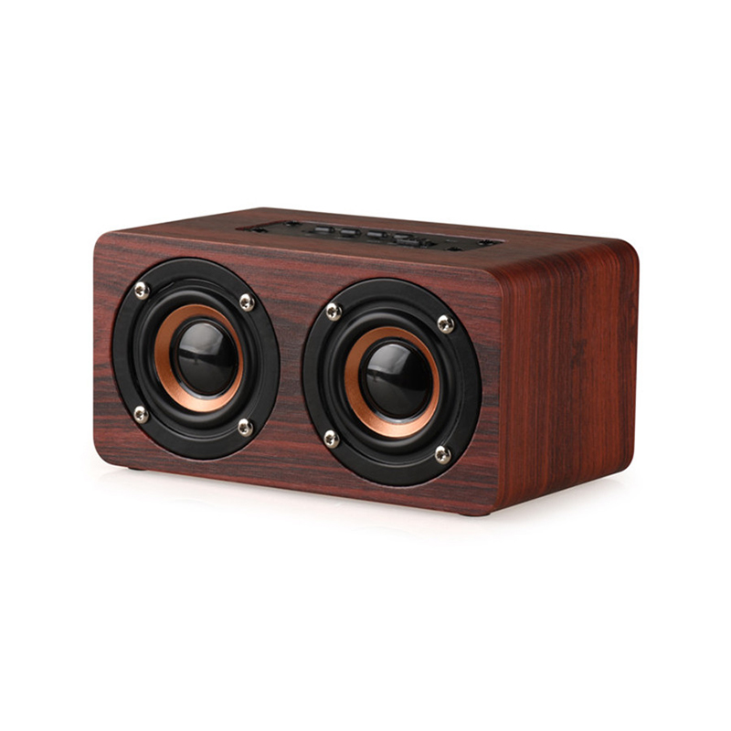 Wireless Bluetooth Speaker Portable Wooden Hifi Audio Suppor TF Cart Aux In Shock Bass Stereo Music Subwoofer For PC Iphone