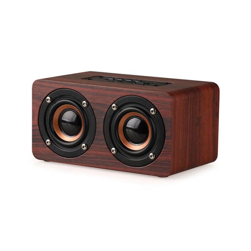 Wireless Bluetooth Speaker Wooden Portable Audio HiFi Home Theatre HiFi Shock Bass Stereo Music Subwoofer Computer Speakers