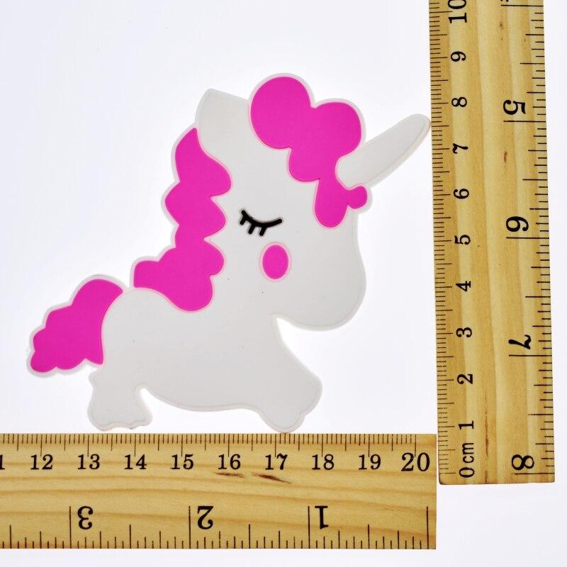 Unicorn Shaped Flatback Soft Pvc Ornaments For Keychain/fridge Magnet/clogs/phone Case/ipad Diy Craft Handmade Accessory