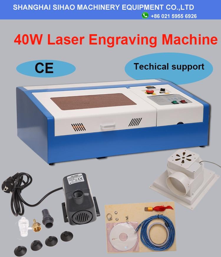 200*300mm Mini Laser Gravur Maschine 40W Laser Cutter CO2 Laser Stecher 3020