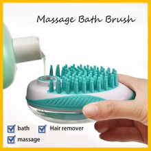 Pet Massager Bath Brush Silicone Head Body Shampoo Scalp Massage Cat Hair Remover Hair Washing Comb 4d smart head massager electric head scalp massager handheld shampoo hair brush promote blood circulation hair growth 4 heads