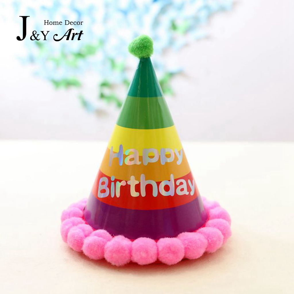 Rainbow Birthday Hat For Child Party Dress Up JY 81 In Hats From Home Garden On Aliexpress