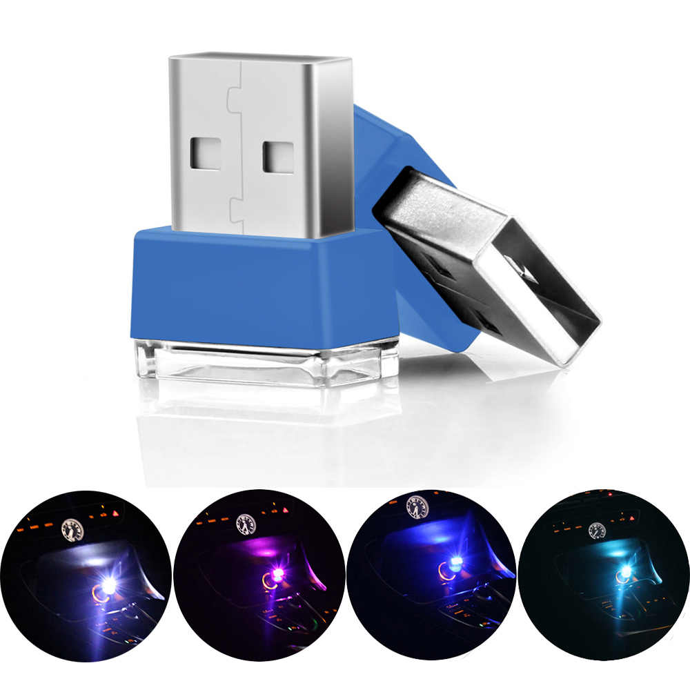 Universal USB Light Car Interior Decorative Atmosphere Light 12V LED Portable Plug and Play Emergency Lamps Car Styling All Car