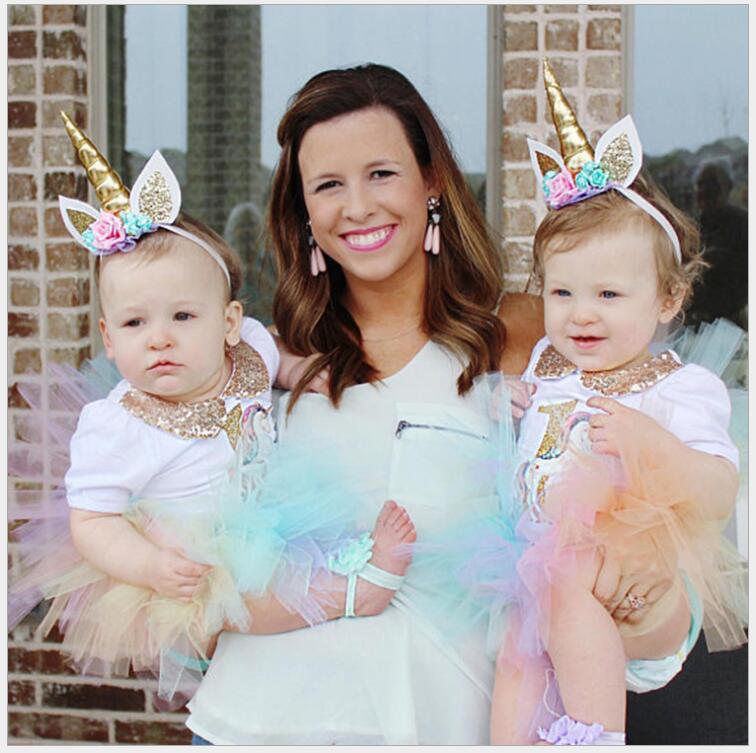 Jednorożec hairbands Fotografia niemowlęca rzeczy dla dziewczynek - Odzież dla niemowląt - Zdjęcie 1
