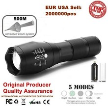 Ultrafire Portable Zoom Flashlight XM-LT6 9000LM 5 Mode LED Flashlight Torch Hunting LED Camping Tactical Switch luz Flashlight цена