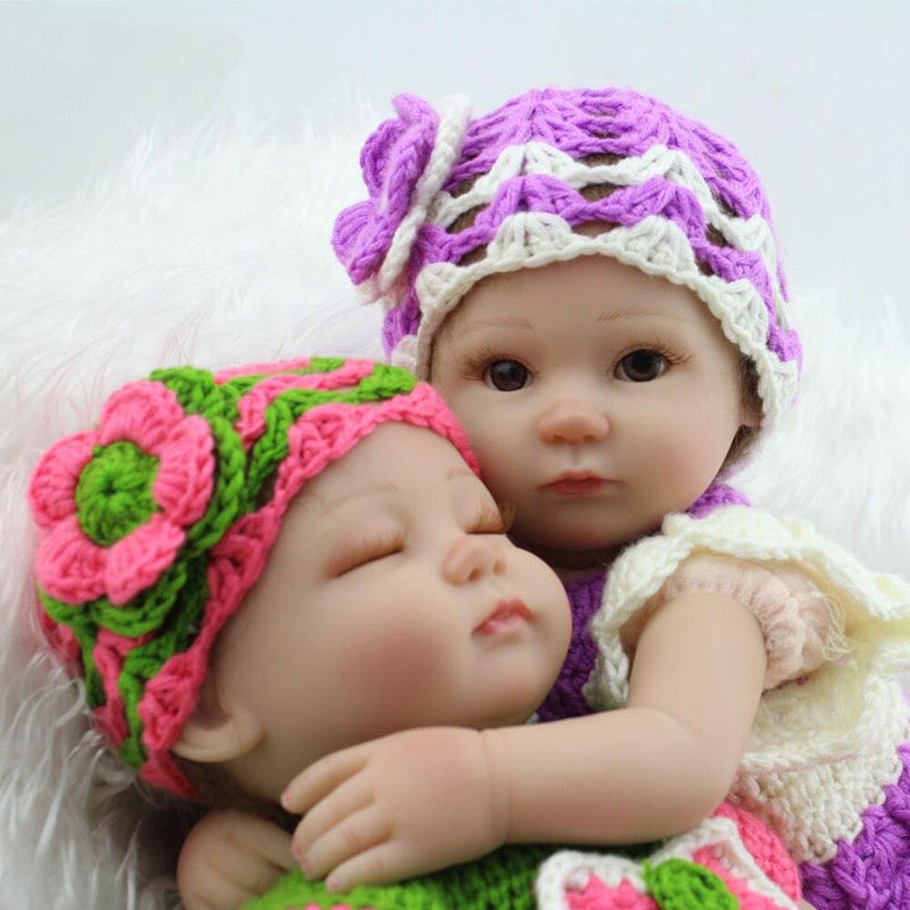 45cm Baby Sleeping font b Dolls b font Silicone Reborn font b Doll b font Girl