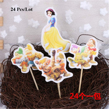 cake flags kids children birthday party girl decorating supplies snow white cupcake toppers princess topper