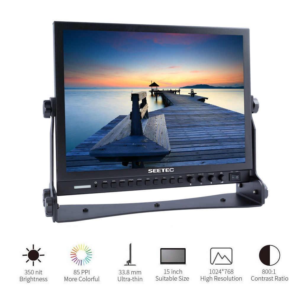 SEETEC P150-3HSD 15 Inch Professional 3G SDI Monitor HDMI YPbPr HD 1024x768  LCD broadcast Screen for cameras dslr filmmaking