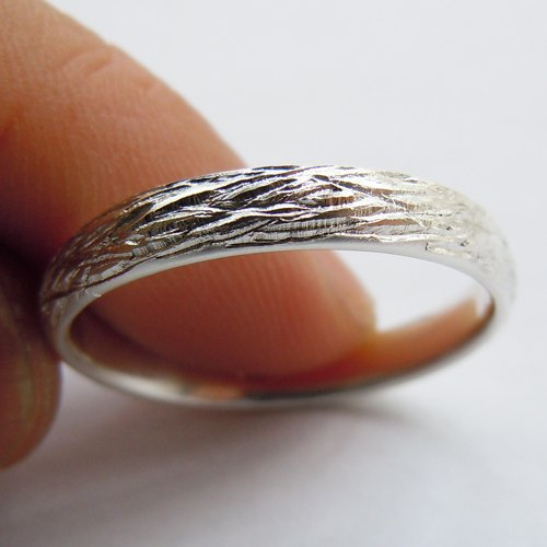 4mm Solid 925Sterling Silver Ring Unique silver bands