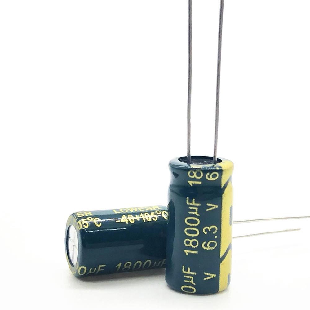10pcs/lot 6.3v 1800uf High-frequency Low-impedance High Frequency Low Impedance Aluminum Electrolytic Capacitor 1800uf 6.3v 20%