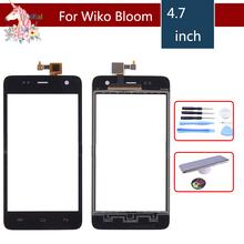 4.7 For Wiko Bloom Touch Screen Panel Sensor Digitizer Front Outer Glass Touchscreen Replacement