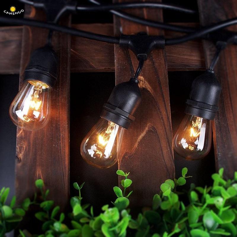Retro Edison Led Lights 10/15M Outdoor String Light ...