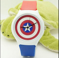 new arrive Willis kids Xmas gift watch+men/lady dress fashion jelly watch+High quality waterproof Captain America rubber watch