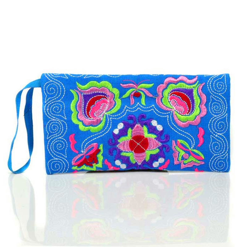 Coin Wallet Double-Flower Embroidery National-Girls Women for with Best-Price Chinese