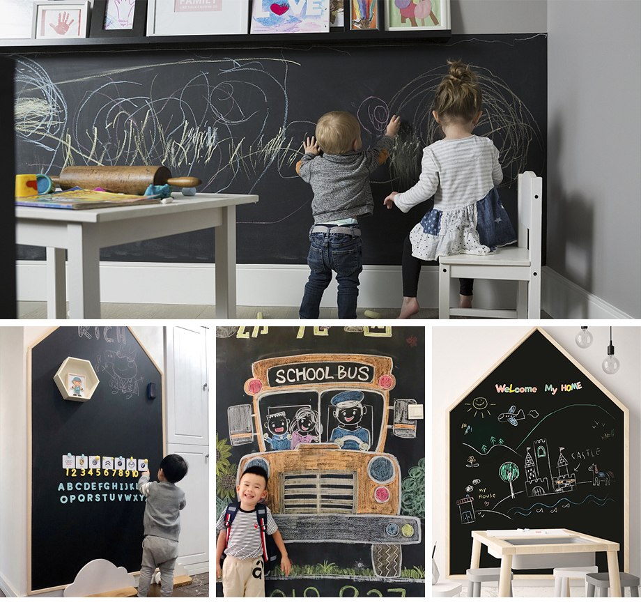 Creative Drawing Toys Child Self-Adhesive Black Drawing Chalk Board Doodle Toy Writing Painting Games Educational Toys Kids Crafts_10