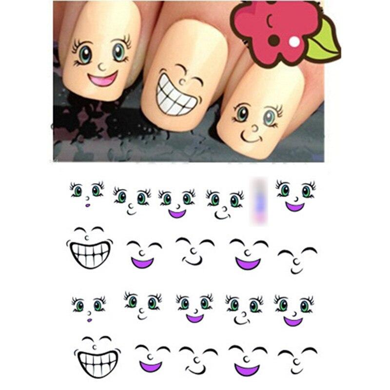 Fashion 1pcs 3d Nail Design Cute Diy Cartoon Colorful Diamonds Tip