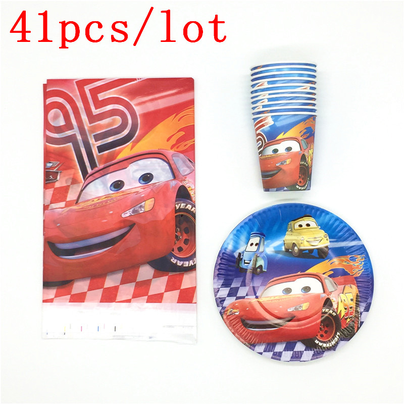 Pop Disney Lightning McQueen Cars Theme Design Tablecloth Plates Cups Event Party Supply Birthday Party Decoration 41Pcs/LotPop Disney Lightning McQueen Cars Theme Design Tablecloth Plates Cups Event Party Supply Birthday Party Decoration 41Pcs/Lot
