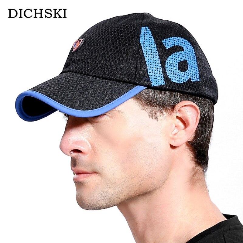 DICHSKI Summer Men Baseball Hat Sports Sunscreen Outdoor Women Adjustable Breathable Mesh Running Cap Couples UV Protection Hats