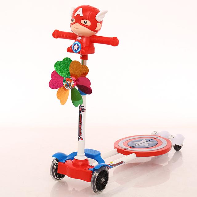 children's scissors foot four wheel vehicle swing flash breaststroke scooter kids bike