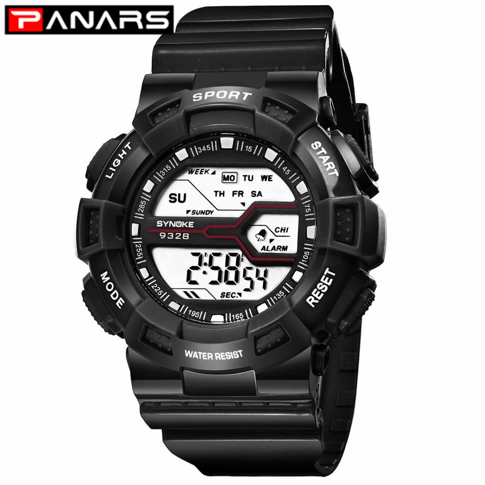 PANARS New Arrival Colorful Fashion Digital Watch Boys Girls Waterproof Wristwatches Sports Silicone Children's Watch For Kids