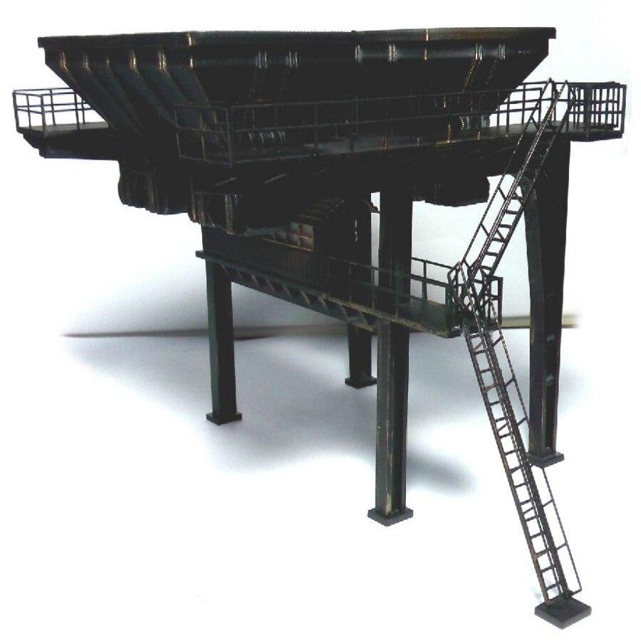Train model 1 87HO architectural scene sand table railway around original brand match coal machine funnel