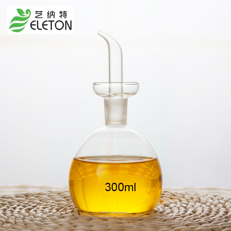 ELETON 300ml Medium eco-friendly oil and vinegar bottle cruet glass oil bottle olive oil bottles kitchen supply Kitchenware